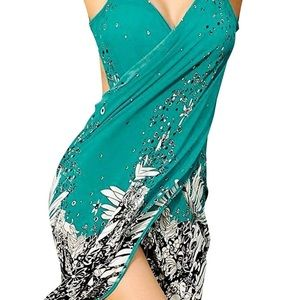 Floral Print Swimwear Cover Up Dress